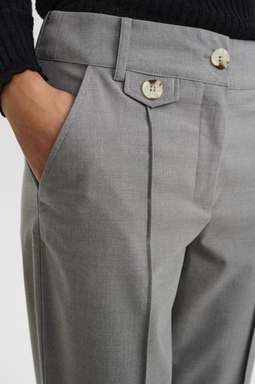 NUCARO püksid - 0510 Light grey mel