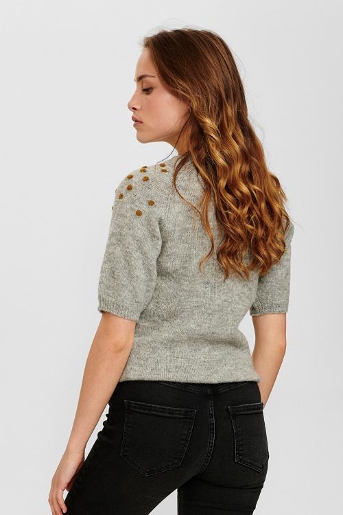 NUCEDAR pullover - 0510 Light grey mel