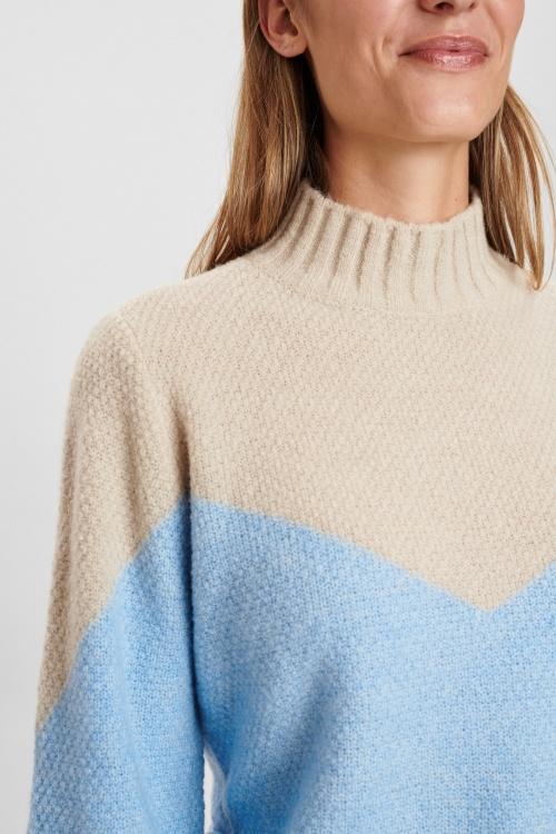 NUCALYPSO pullover LS - 3078 Cashmere Blue