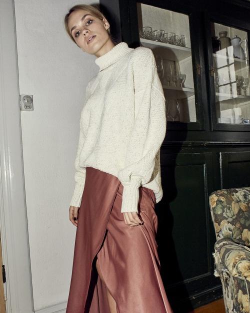 NUMARIT LS pullover - 9000 B. WHITE